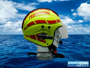 GECKO Open-Face Marine Safety Helmet - Helm Design: Wasserrettung FEUERWEHR