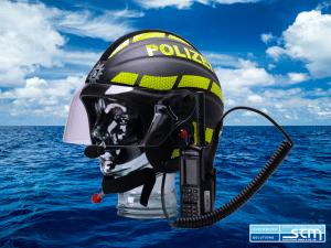 GECKO Open-Face Marine Safety Helmet - Helm Design: WASSERSCHUTZPOLIZEI